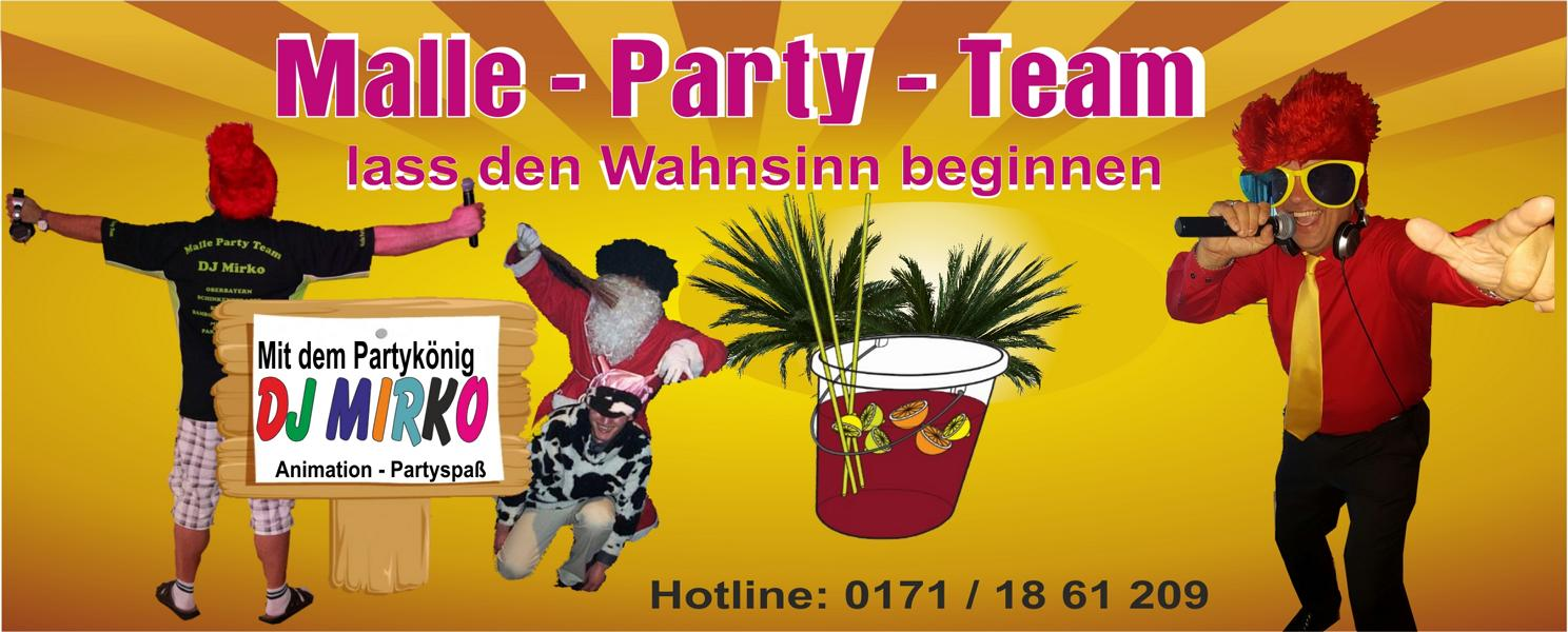 K800 Banner Malle Party Team